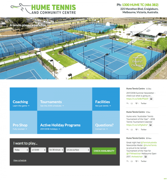 Hume Tennis